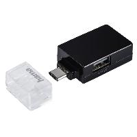 USB-C хъб 1:3 HAMA Pocket, 1 x USB-A 3.1, 2 x USB-A 2.0, Черен Снимка 1