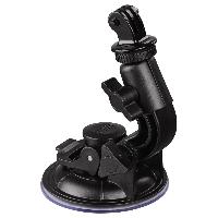 Универсална автомобилна стойка за камера HAMA 04356, Вакумно залепяне, Вртяща глава на 360°, Черен Снимка 1