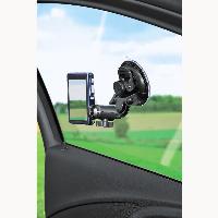 Универсална автомобилна стойка за камера HAMA 04356, Вакумно залепяне, Вртяща глава на 360°, Черен Снимка 2