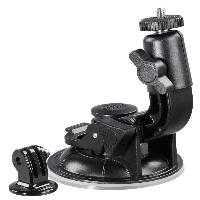 Универсална автомобилна стойка за камера HAMA 04356, Вакумно залепяне, Вртяща глава на 360°, Черен Снимка 3