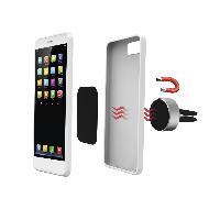 Магнитна стойка за кола за  телефон HAMA Magnetic Aluminium, Черен Снимка 2
