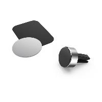 Магнитна стойка за кола за  телефон HAMA Magnetic Aluminium, Черен Снимка 3