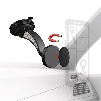 Магнитна стойка за стъкло и кола HAMA Magnet, за навигации/телефон/таблет, Черен Снимка 1