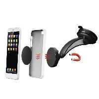 Магнитна стойка за стъкло и кола HAMA Magnet, за навигации/телефон/таблет, Черен Снимка 3