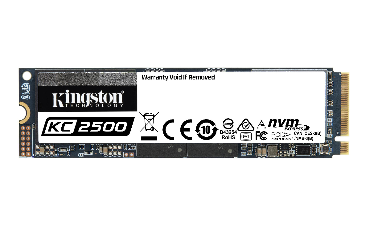 Диск SSD KINGSTON KC2500 1TB M.2 PCIe NVMe 3.0 x4 3D NAND