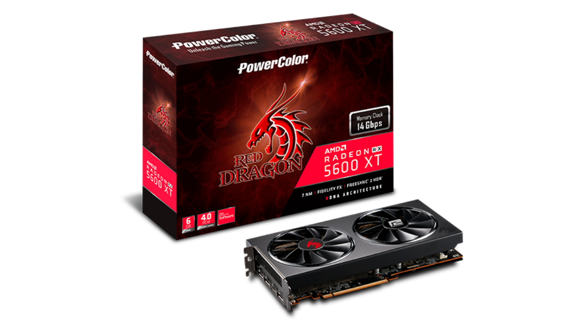 Видео карта PowerColor Red Dragon RX 5600 XT 6GB