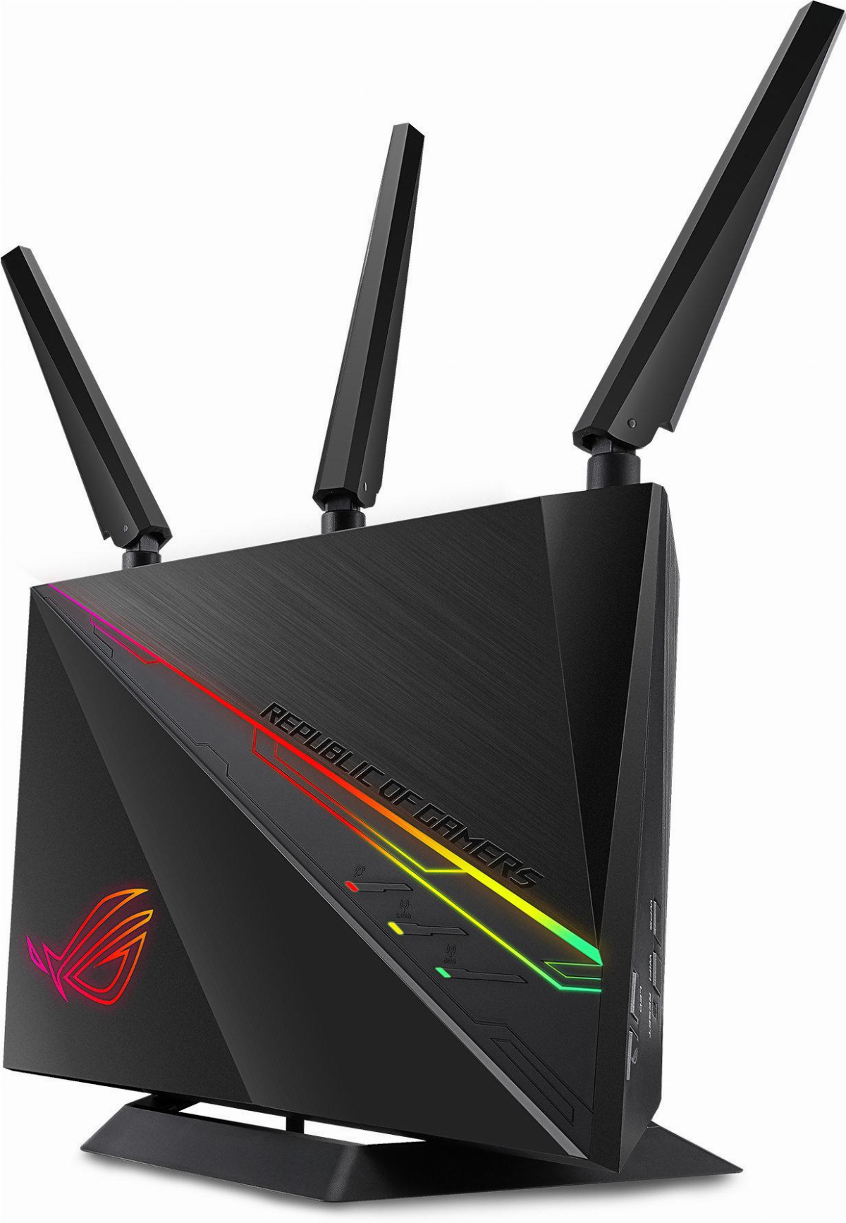 Безжичен рутер ASUS ROG Rapture GT-AC2900 Dual Band, NVIDIA GeForce NOW recommanded, Triple-level game acceleration, AiMesh, Lifetime Free AiProtection Pro Internet Security, Open NAT
