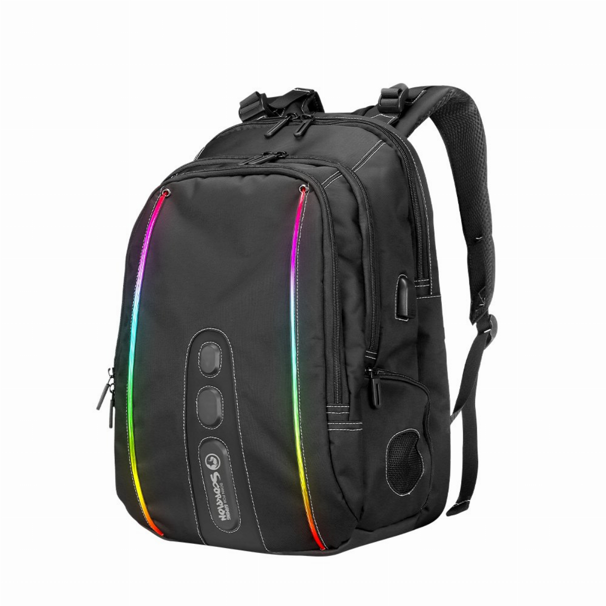 "Marvo геймърска раница Gaming Backpack 15.6"" RGB with Bluetooth Speaker - MARVO-BA-02"