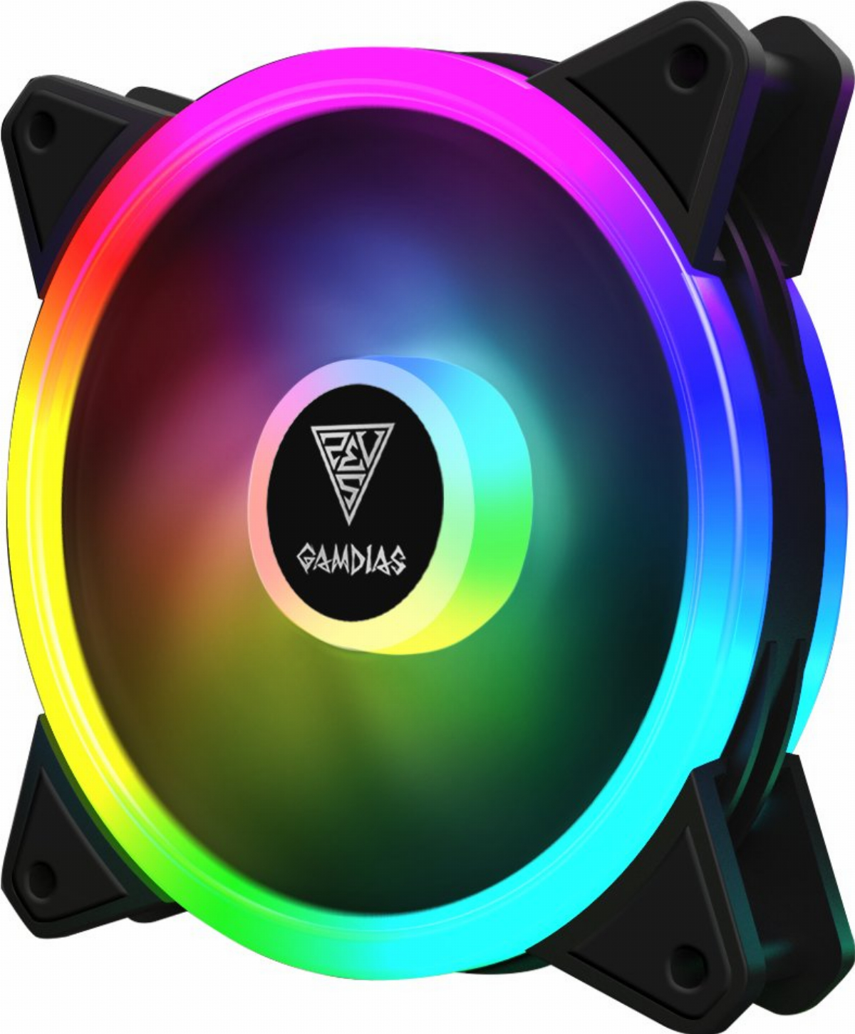 Вентилатор Gamdias 120mm aRGB AEOLUS M2 Trio RGB rings