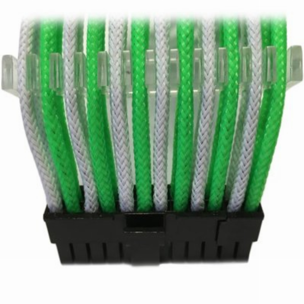 Оплетен кабел Gelid 24pin Power extension cable 30cm individually sleeved Green/White