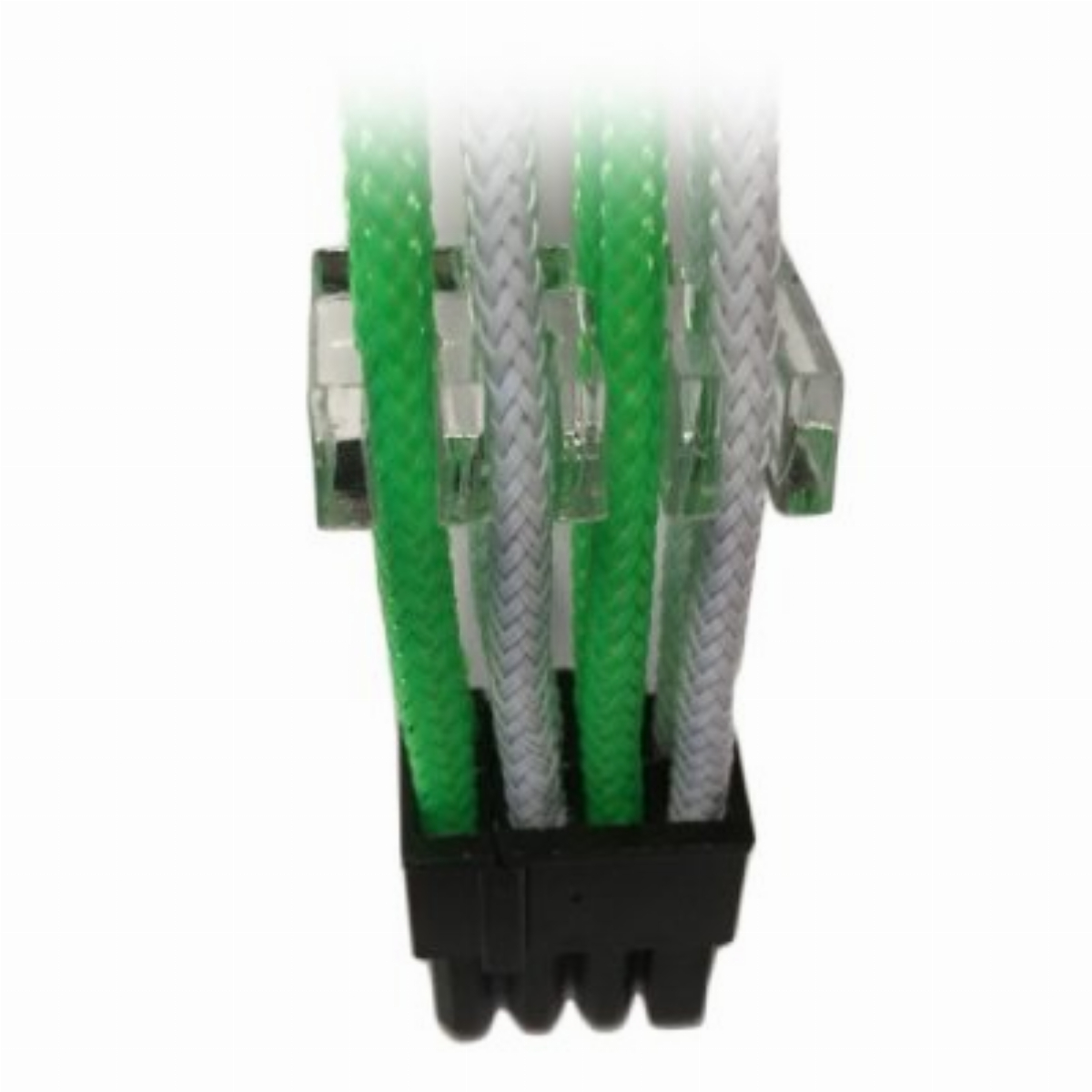 Оплетен кабел Gelid 8pin Power extension cable 30cm individually sleeved (Green/White)
