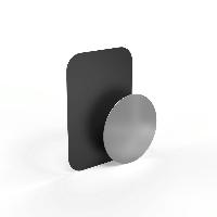 Метална плочка за магнитна стойка HAMA Magnet, Черен/Сребрист Снимка 1