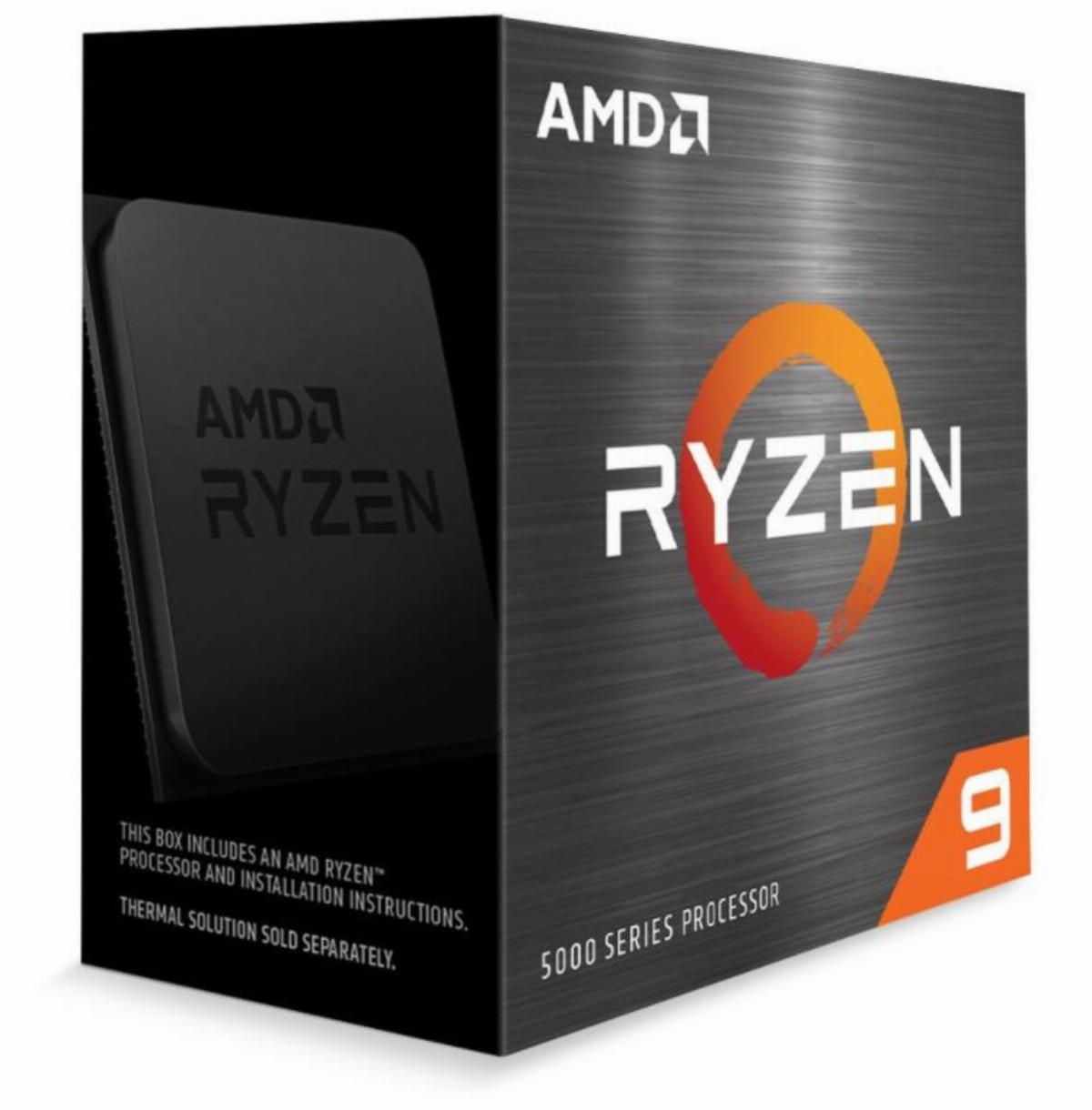 Процесор AMD Ryzen 9 5900X (4.8GHz Max Boost,70MB,105W,AM4) box Снимка 1
