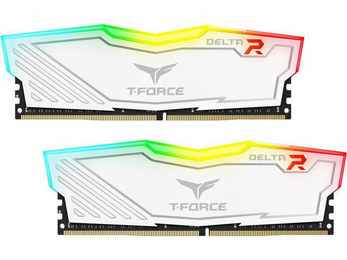 Памет Team Group T-Force Delta RGB White DDR4 32GB (2x16GB) 3600MHz CL18