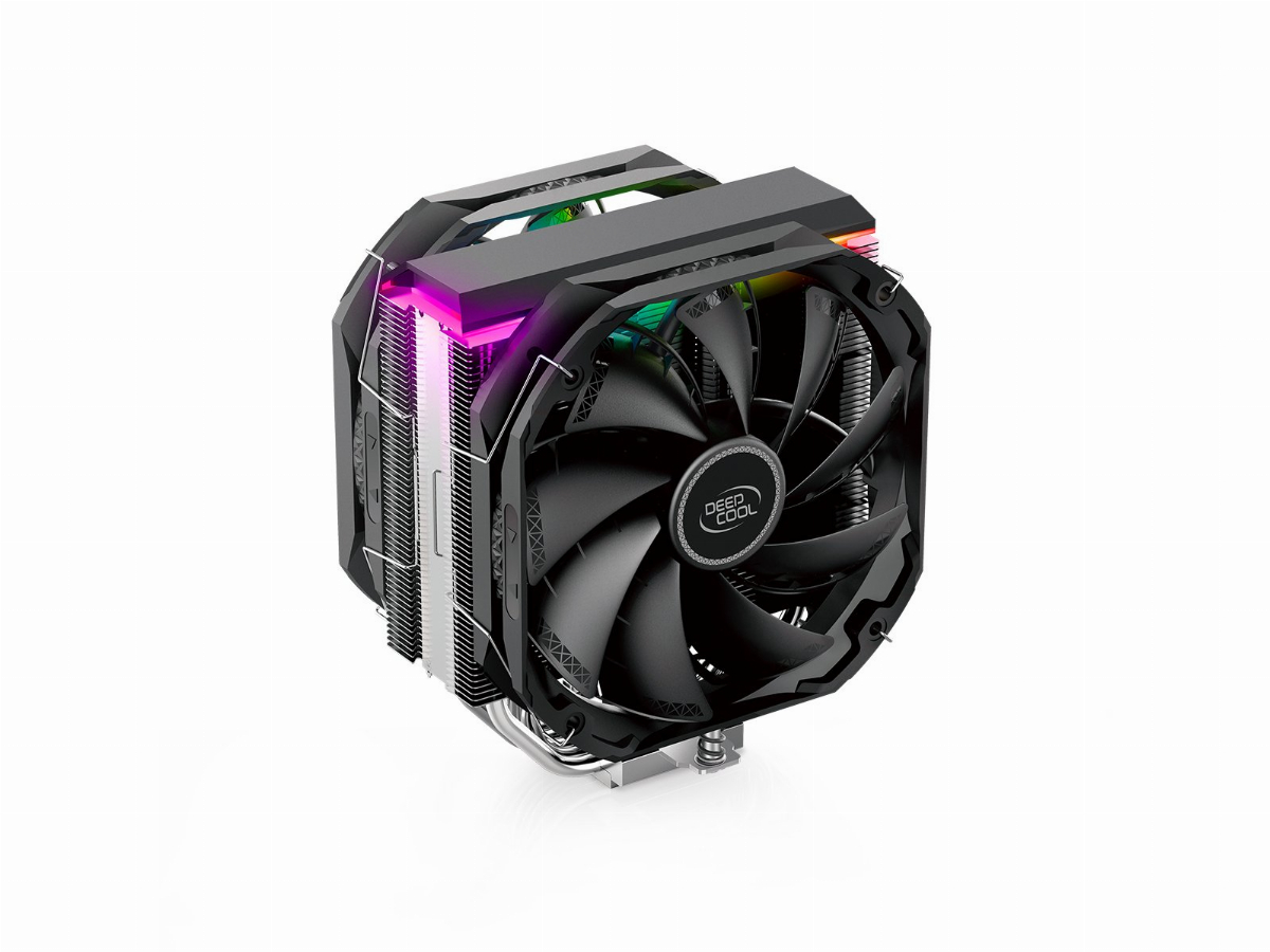 Охладител за процесор DeepCool AS500 PLUS aRGB CPU Cooler with controller