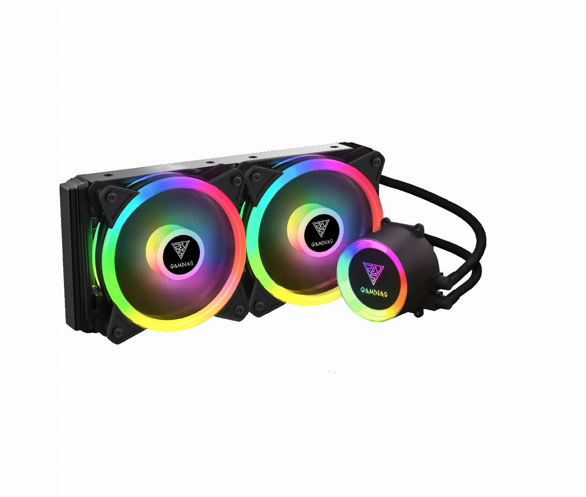 Водно охлаждане Gamdias CHIONE M2-240 LITE aRGB Water Cooling 240mm