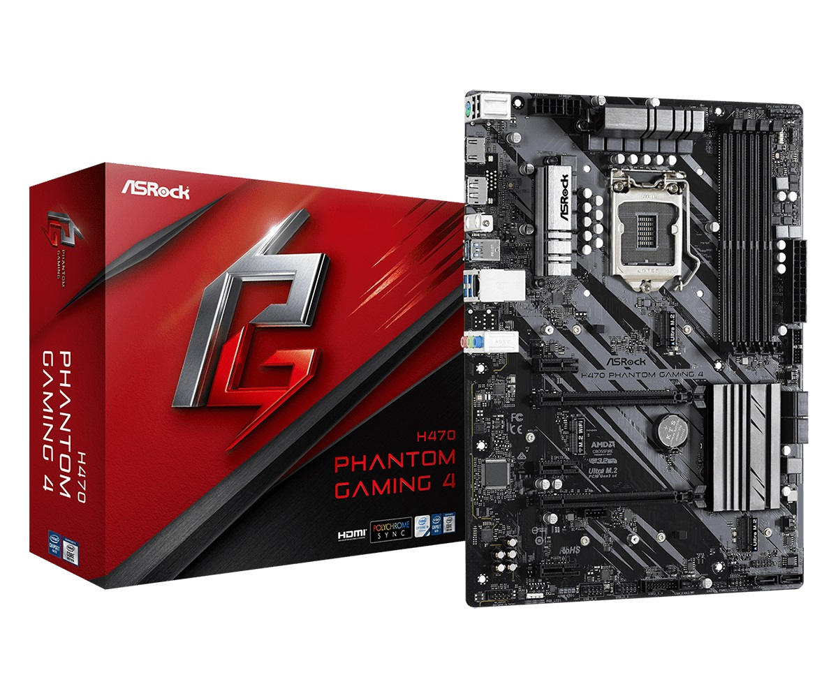 Дънна платка ASROCK H470 Phantom Gaming 4