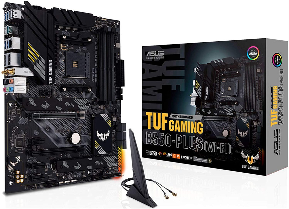 Дънна платка ASUS TUF GAMING B550-PLUS (WI-FI) Снимка 1