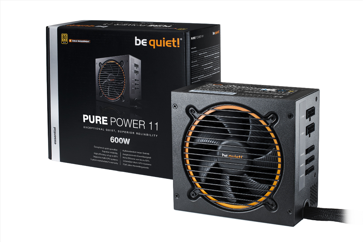 Захранване be quiet! PURE POWER 11 600W 80+ Gold