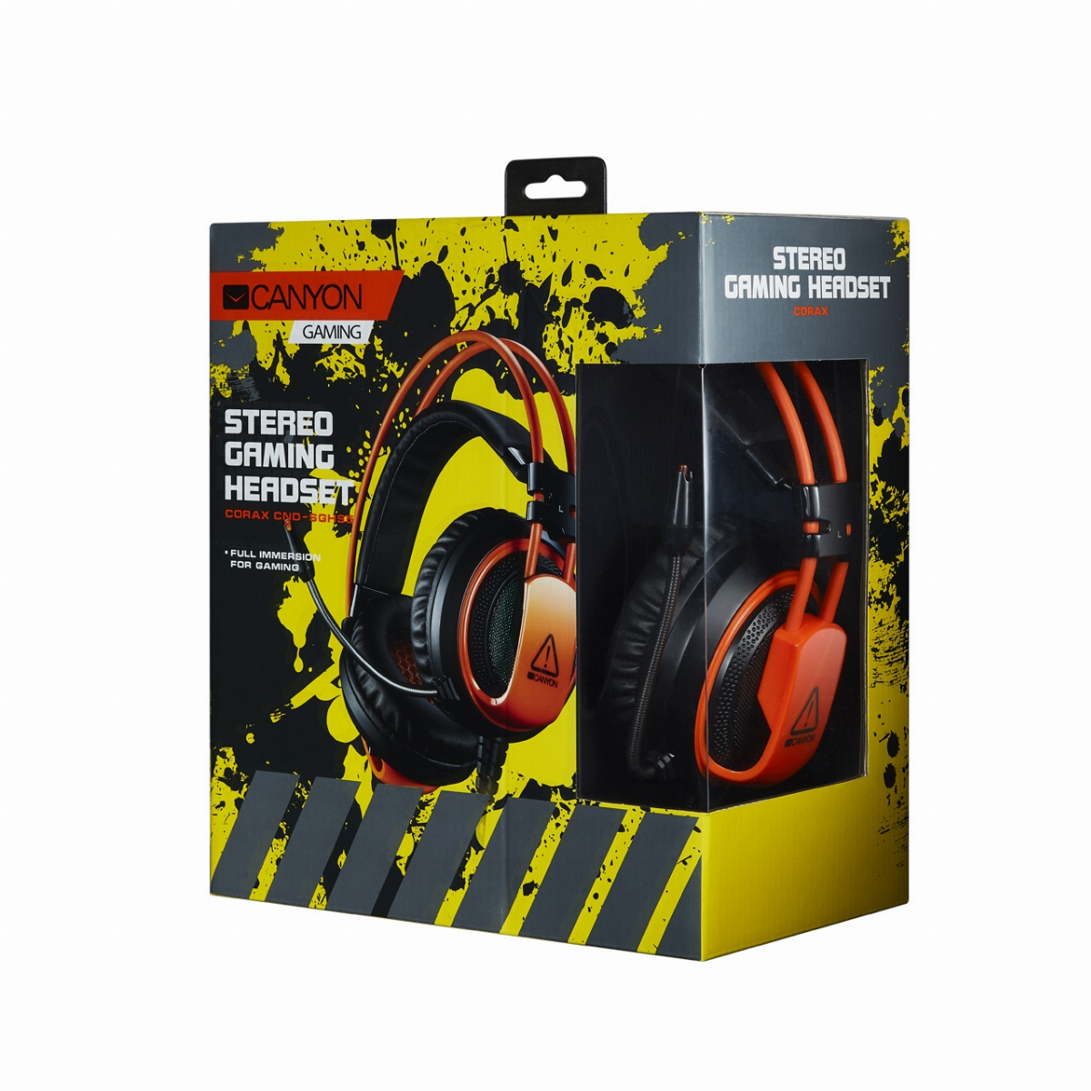 Геймърски слушалки CANYON Corax CND-SGHS5A Gaming headset 3.5mm jack plus USB Снимка 3