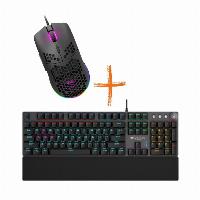 Комплект геймърска мишка + клавиатура CANYON Puncher CND-SGM11B Black RGB & CANYON Nightfall CND-SKB7-US Снимка 1
