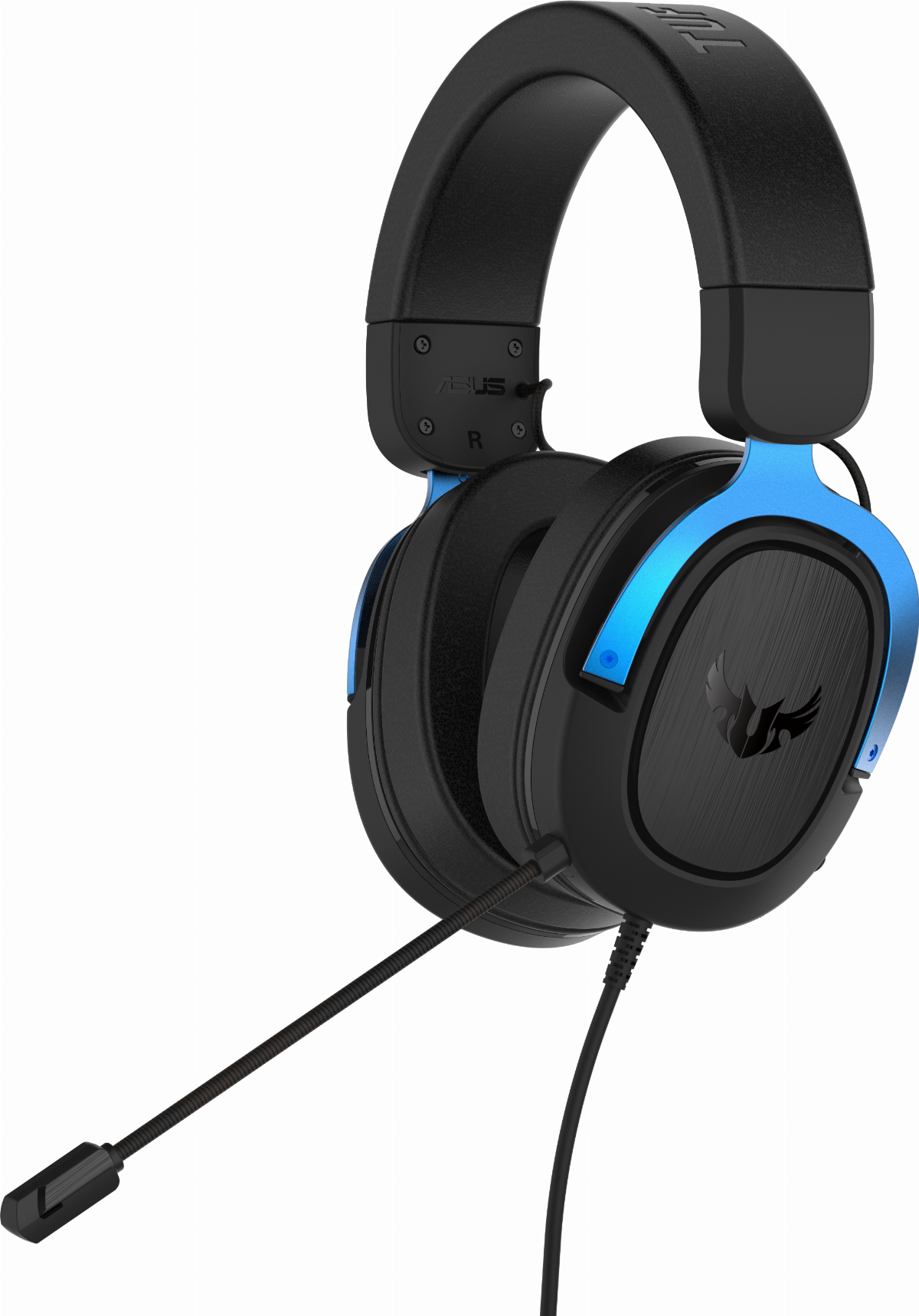 Геймърски слушалки ASUS TUF Gaming H3 Blue, 7.1 Virtual Surround Sound