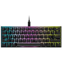 Геймърска механична клавиатура CORSAIR K65 RGB MINI 60% - CHERRY MX Red Снимка 1