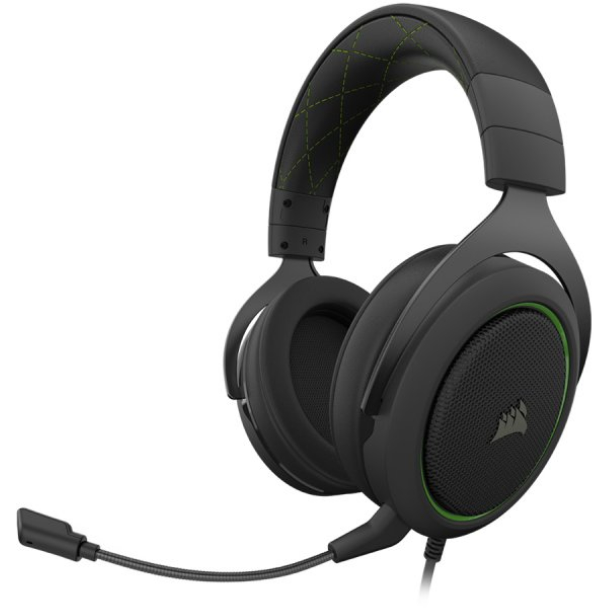 Геймърски слушалки CORSAIR HS50 PRO STEREO Gaming Headset Green - CA-9011216-EU