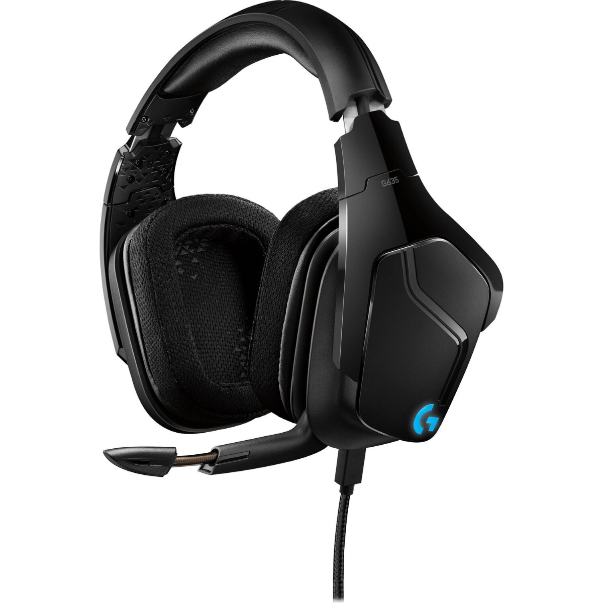 Геймърски слушалки Logitech G635 7.1 Surround Sound LIGHTSYNC Gaming Headset