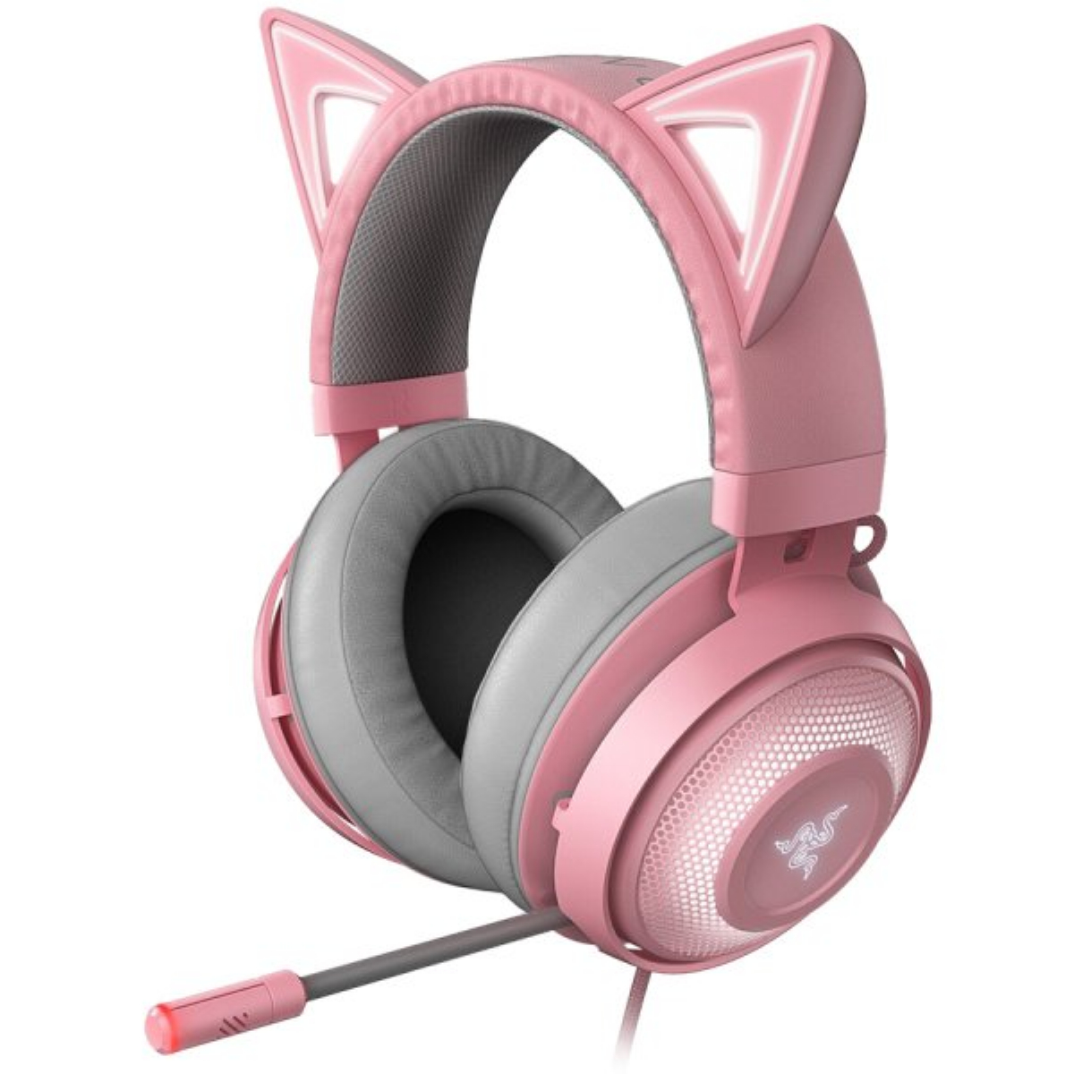 Геймърски слушалки Razer Kraken Kitty Edition Quartz Gaming Headset