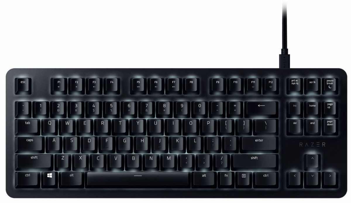 Геймърска клавиатура Razer BlackWidow Lite Silent Mechanical Switches Orange US Layout