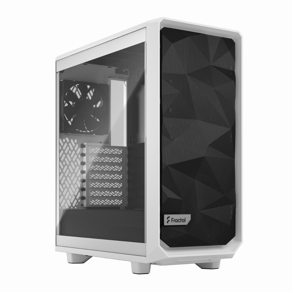 Кутия Fractal Design Meshify 2 Compact Clear Tempered Glass White