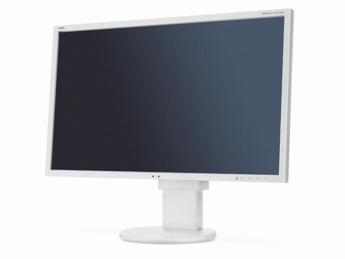 "Монитор NEC MultiSync 22"" EA224WMi LCD, IPS, FHD 1920x1080, VGA, DVI, DisplayPort, HDMI, Speakers, Бял"