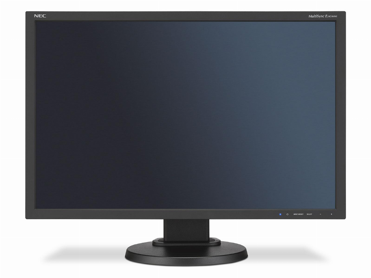 "Монитор NEC MultiSync 24"" E245WMi LCD, IPS, UXGA 1920x1200, VGA, DVI, DisplayPort, Speakers, Черен"