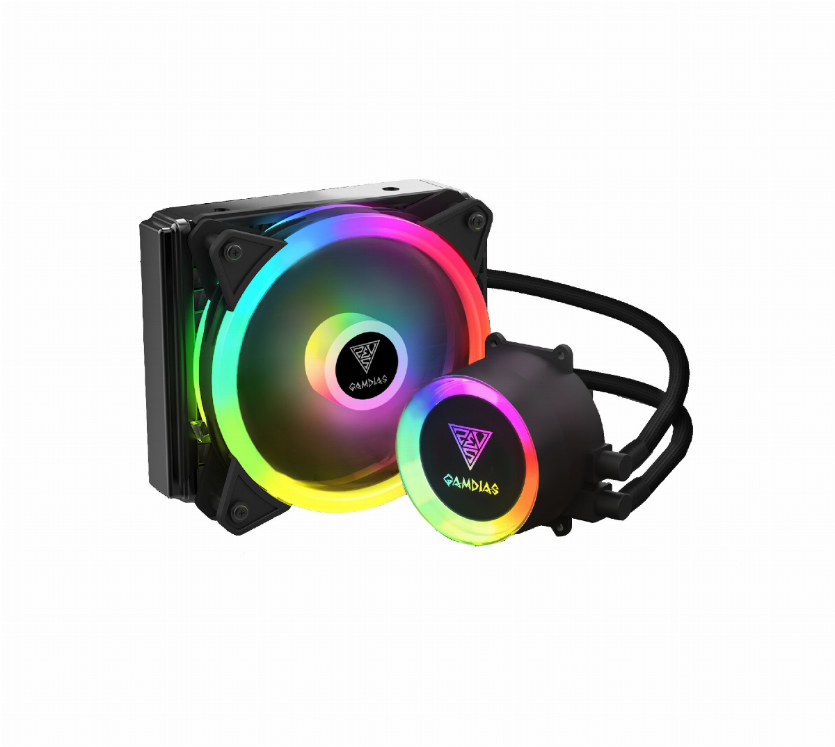Охладител за процесор Gamdias CHIONE E2-120 LITE 120mm aRGB Water Cooling