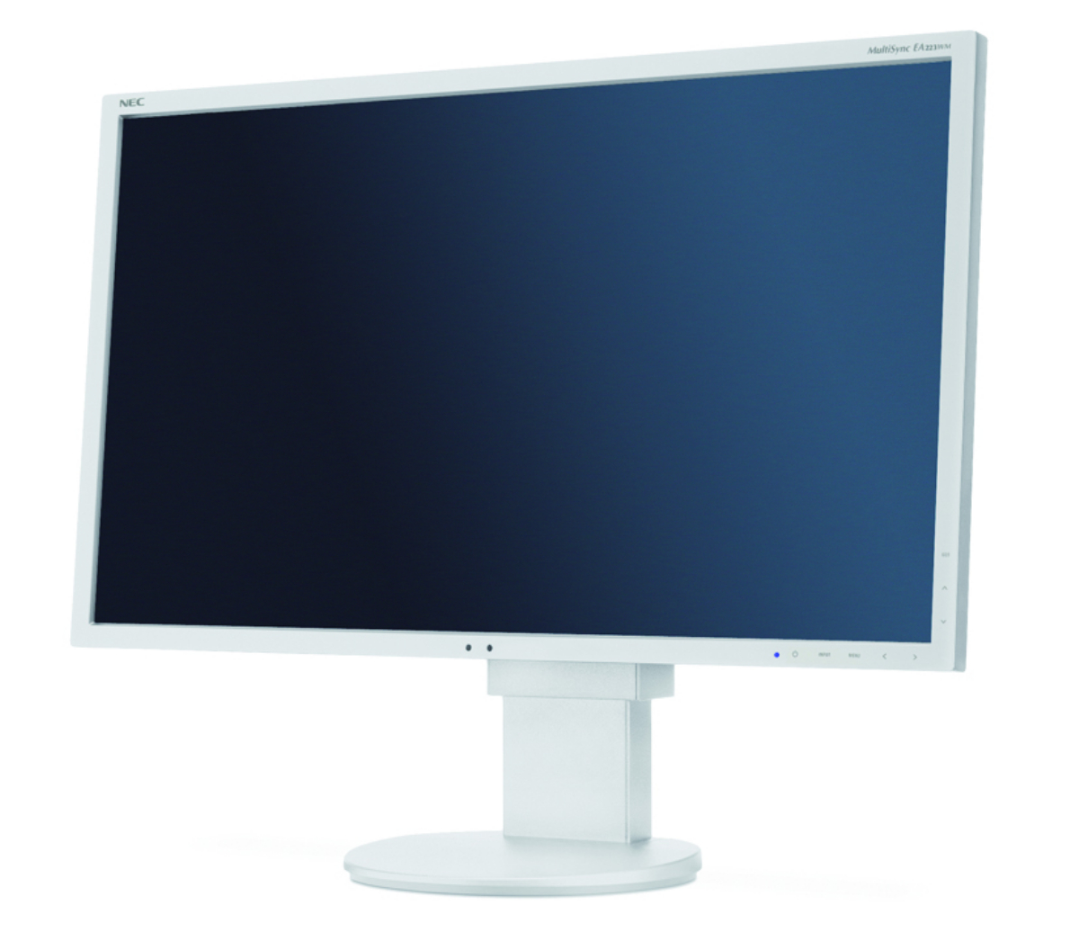 "Монитор NEC MultiSync 22"" EA223WM LCD, TN, 1680x1050, VGA, DVI, DisplayPort, Speakers, Черен"