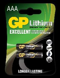 Литиева батерия GP CR03 AAA 1,5V 2бр. в блистер Снимка 1