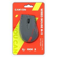 Мишка CANYON CNE-CMS11DG Wired Optical Mouse DPI 1000 Снимка 5