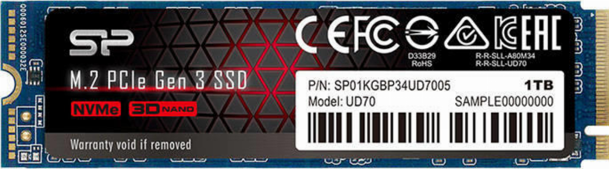 Диск SSD Silicon Power UD70 1TB M.2 2280 PCIe Gen 3x4