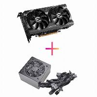 Комбо видео карта + захранване EVGA GeForce RTX 3060 XC GAMING 12GB - 12G-P5-3657-KR, EVGA 700 BR 80+ BRONZE 700W - 100-BR-0700-K1 Снимка 1