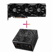 Комбо видео карта + захранване EVGA GeForce RTX 3070 XC3 ULTRA GAMING - 08G-P5-3755-KR + EVGA 850 B5 80 Plus BRONZE 850W - 220-B5-0850-V1 Снимка 1