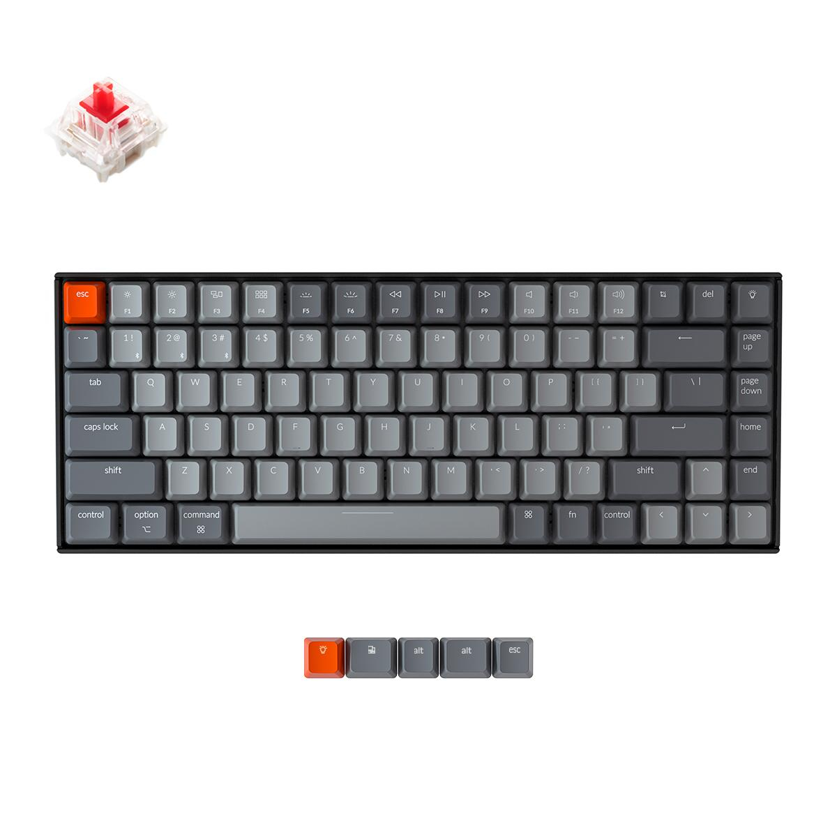 Геймърска Механична клавиатура Keychron K2 Hot-Swappable Compact Gateron Red Switch RGB LED Gateron Red Switch ABS