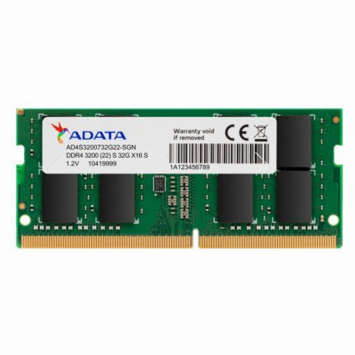 Памет ADATA 32GB DDR4 3200MHz CL22 SODIMM - AD4S320032G22-SGN