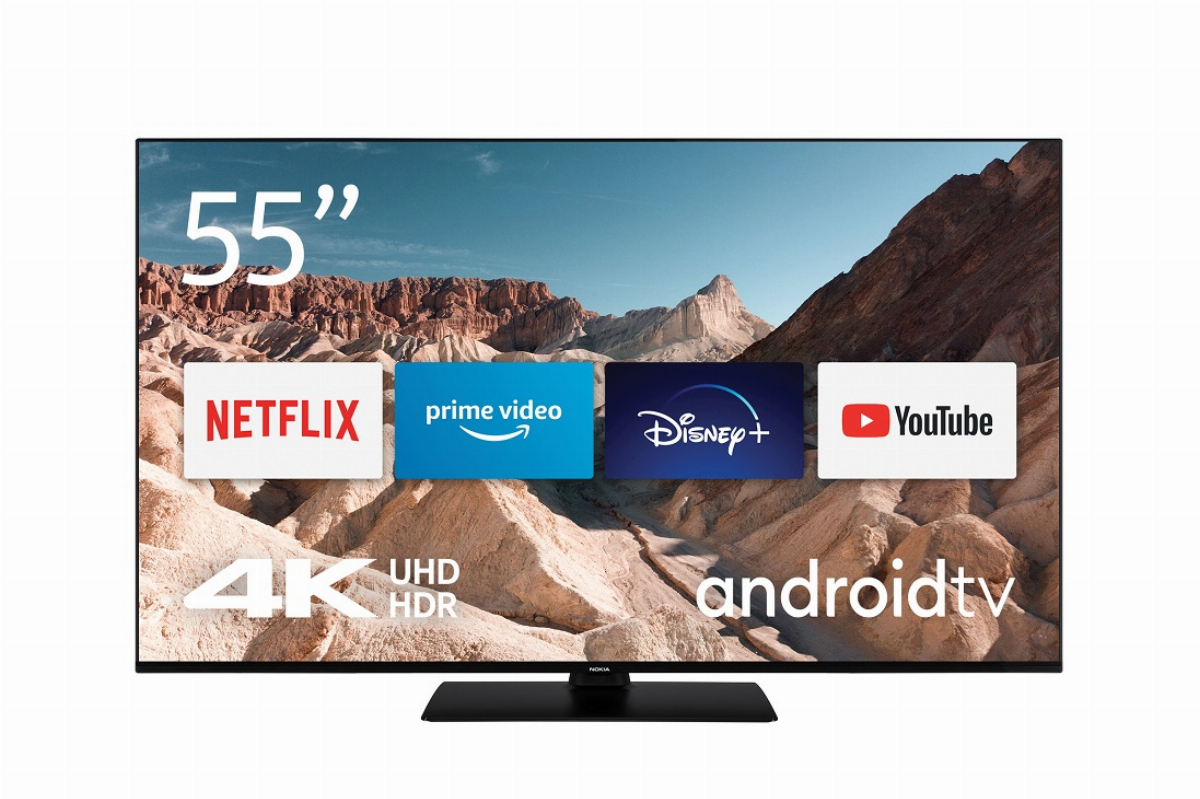 """Монитор TV Nokia Smart 5500A, 55"""", IPS, 4K 3840x2160, HDR10, Dolby Vision, Wi-Fi, Android OS - 5500A4KDA"""